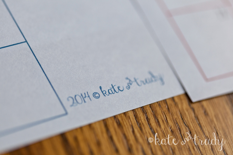 2014 Monthly Calendar Printable   www.kateandtrudy.com