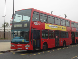 Metrobus 897 on Route 75, Elmers End