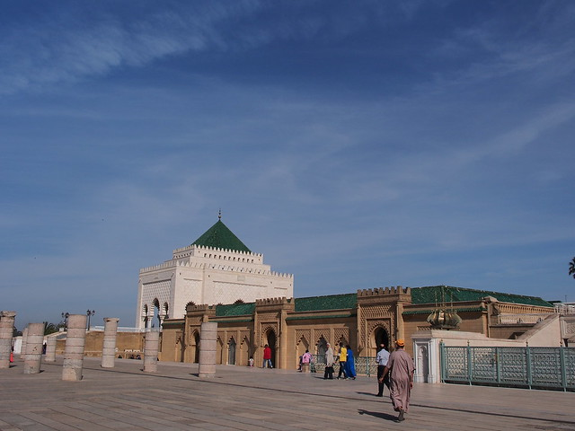 Hassan Tower旁的Mausoleum of Mohammad V