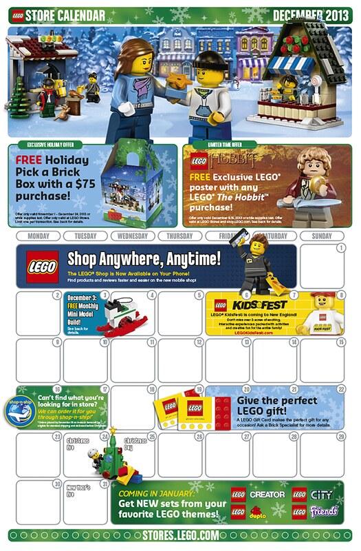 LEGO Shop December 2013 Calendar