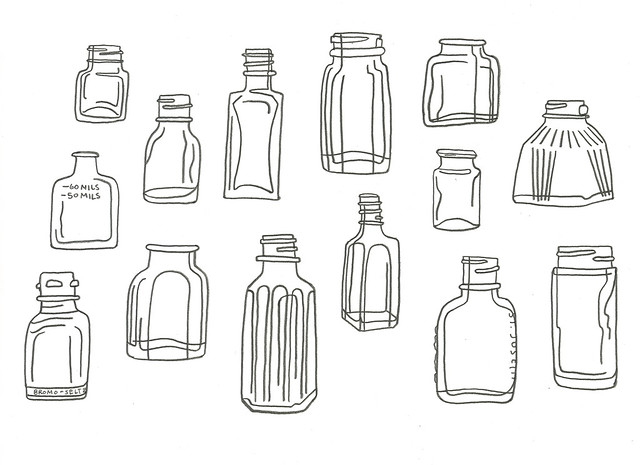 bottle drawing, looser