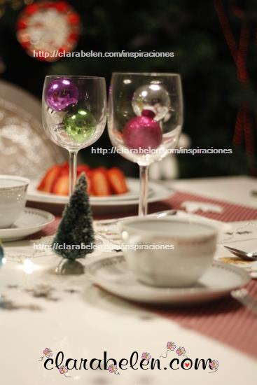 Decoración la comida y la cena de Navidad