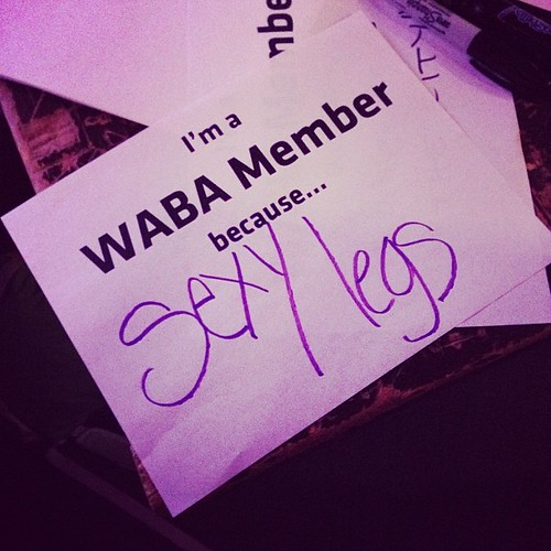 I'm a WABA member because...
