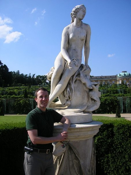 The first time I visited Sanssouci Palace outside of Berlin, it was winter and all the statues were in protective wooden boxes.  Here I've returned in the summer, while on tour with the San Francisco Symphony Youth Orchestra as their manager.