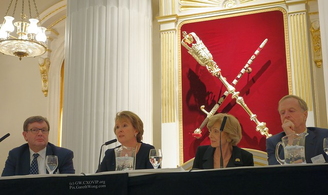 Eileen Taylor, MD Deutsche Bank speaking on panel w/ Tony Manwaring, Tomorrow's Company, Fiona Woolf, London Lord Mayor, and Dick Tyler Senior partner CMS cameron Tomorrow's City launch 19Nov2013 from RAW _DSC0328
