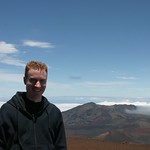 Me, top of crater, managed a smile, Maui