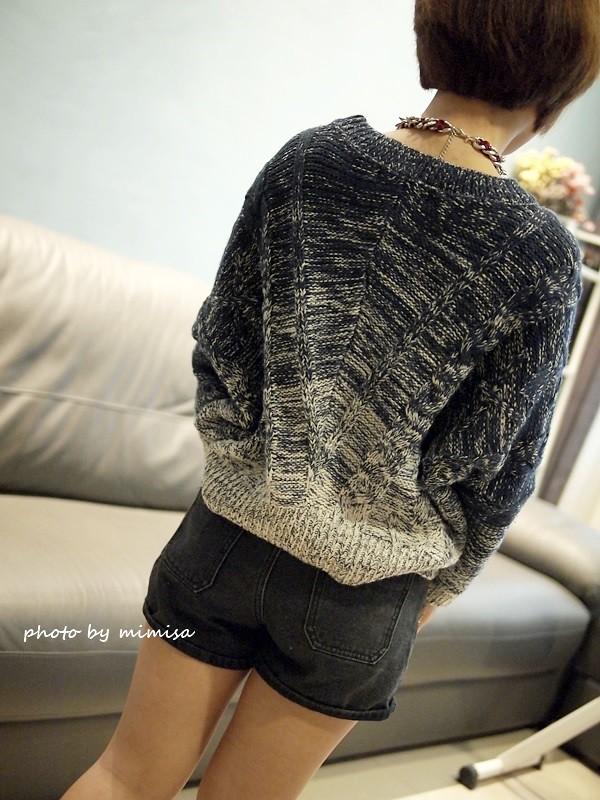 Queen Shop 毛衣 牛仔短褲 (8)