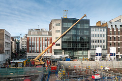 Crossrail building site Bond Street London
