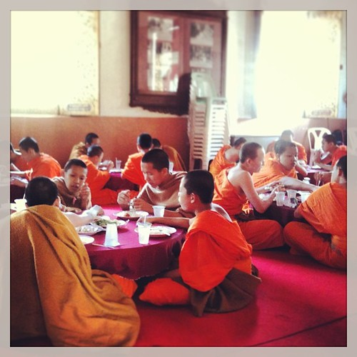 Jóvenes monjes en Wat Phra Singh #chiangmai #tailandia