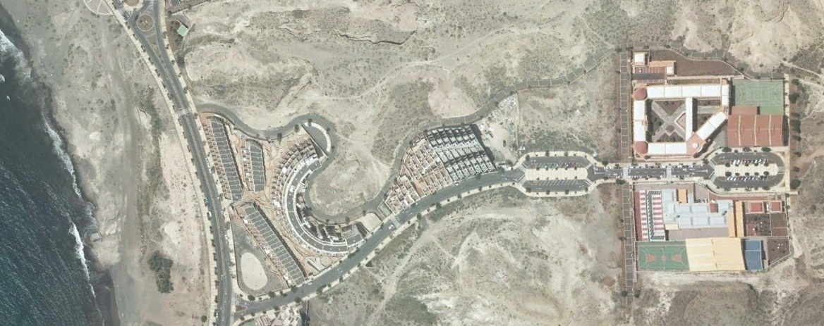 después, urbanismo, foto aérea,desastre, urbanístico, planeamiento, urbano, construcción,El Médano, Tenerife, Santa Cruz de Tenerife