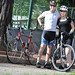 Cycling with my wife and her new bike
