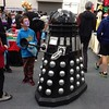 Getting way too close to a Dalek at the Armageddon Expo in Dunedin, NZ. Where are his parents!