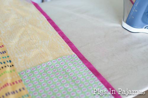Baby quilt binding