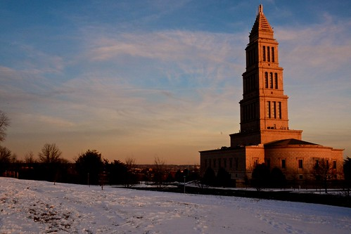 The George Washington Masonic Memorial Temple at Sunset by Geoff Livingston