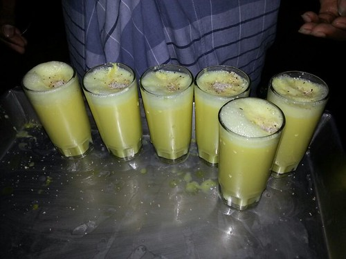 Hot Badam Milk with sugar toppings