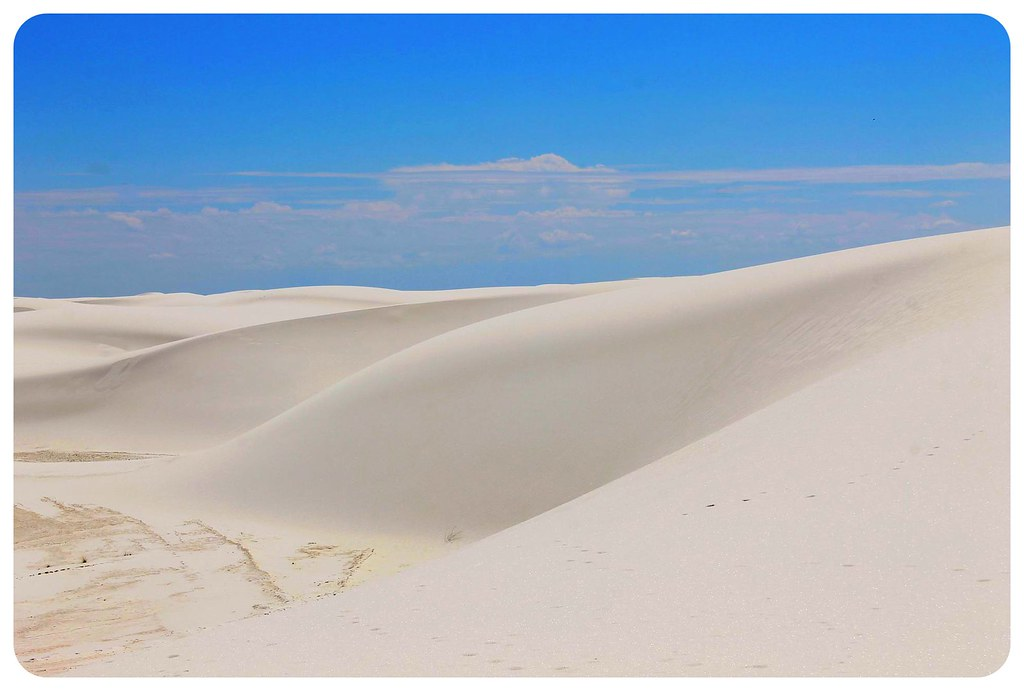 White Sands New Mexico white dunes