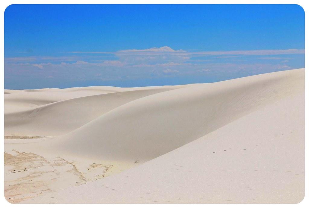 White Sands New Mexico white dunes