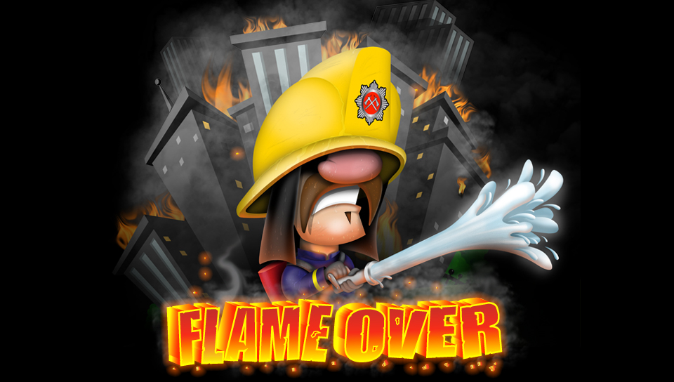 Flame Over Title Screen