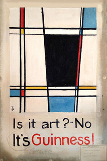 Guinness as Mondrian, by Gilroy