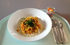 Kichererbsencurry mit Reis / Chickpea curry with r…