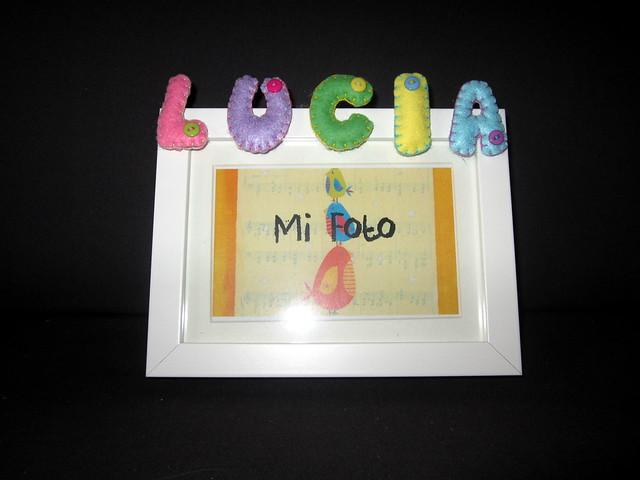 Marco de fotos personalizado - Lucia