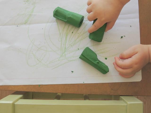(re)fazer lápis de cera