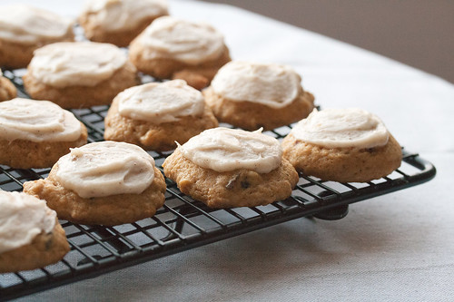 Applesauce Cookies with Browned Butter Icing