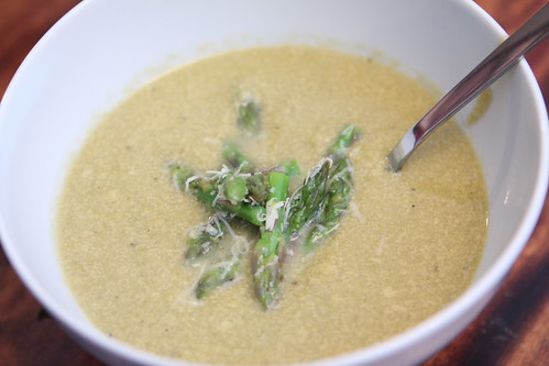 Asparagus and Aged Cheddar Soup
