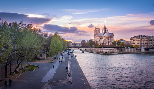 Notre Dame de Paris from pont  de la Tournelle