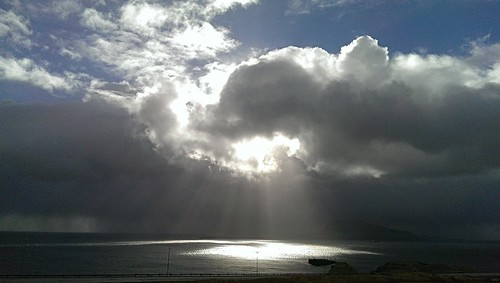 sea sun reflection horizon faroeislands cloudscape darkscape hoyvík imag0008 fkhoyvík