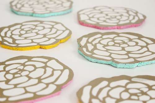 floral-cocktail-party-coasters