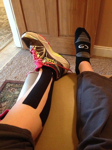 Taped up and cleared to run again