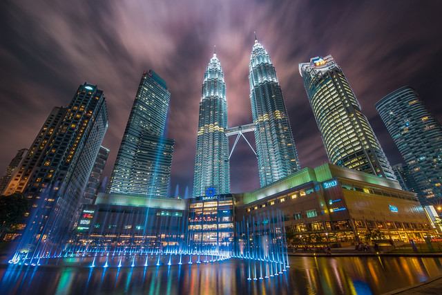 Petronas Towers in night scene..