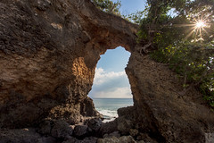 Natural rock formation at Laxmanpur beach, Niel Island, Andamans.
