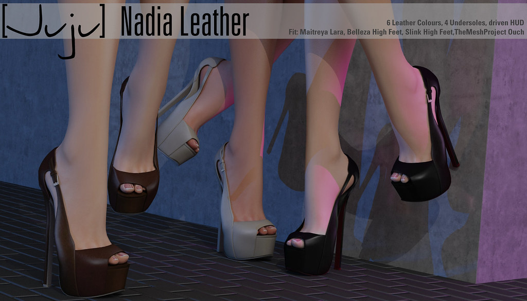 [Juju] Nadia (leather) for Shoetopia - SecondLifeHub.com