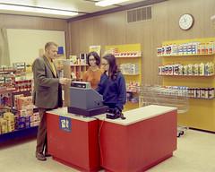 Retail clerk class, Fort McMurray Vocational School, Fort McMurray, Alberta