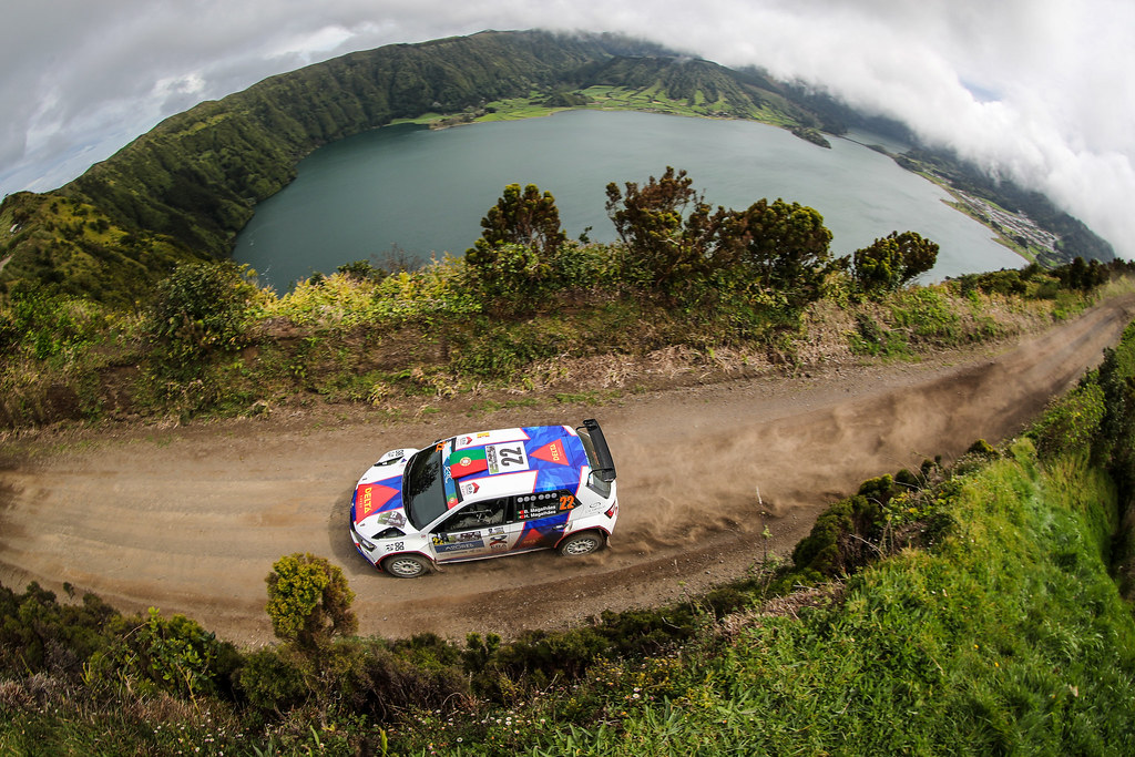 22 MAGALHAES Bruno MAGALHAES Hugo Skoda Fabia R5 Action during the 2017 European Rally Championship ERC Azores rally,  from March 30  to April 1, at Ponta Delgada Portugal - Photo Jorge Cunha / DPPI