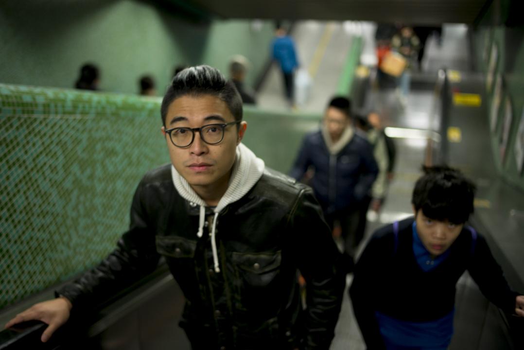 林森戴住黑框眼鏡,外型瘦削,名字在香港獨立電影界不算陌生。