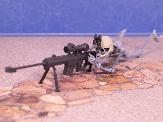 ちょこっとレビュー 海洋堂カプセルQ 戦え!ドクロマン タクティカルアームズDEVGRU(デブグル) 対物ライフル
