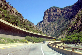 Windshield View, I-70 East through Glenwood Canyon, CO 8-12