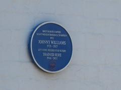 Photo of Johnny Williams blue plaque
