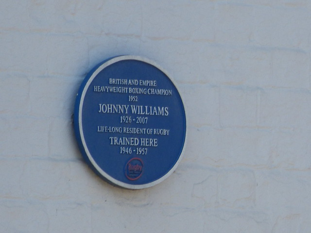 Photo of Johnny Williams blue plaque