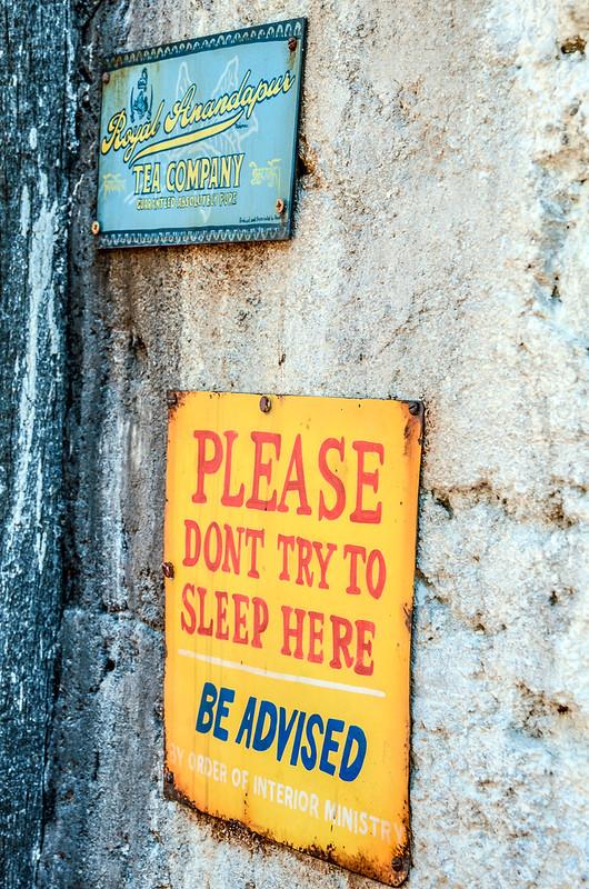 Sleeping sign AK