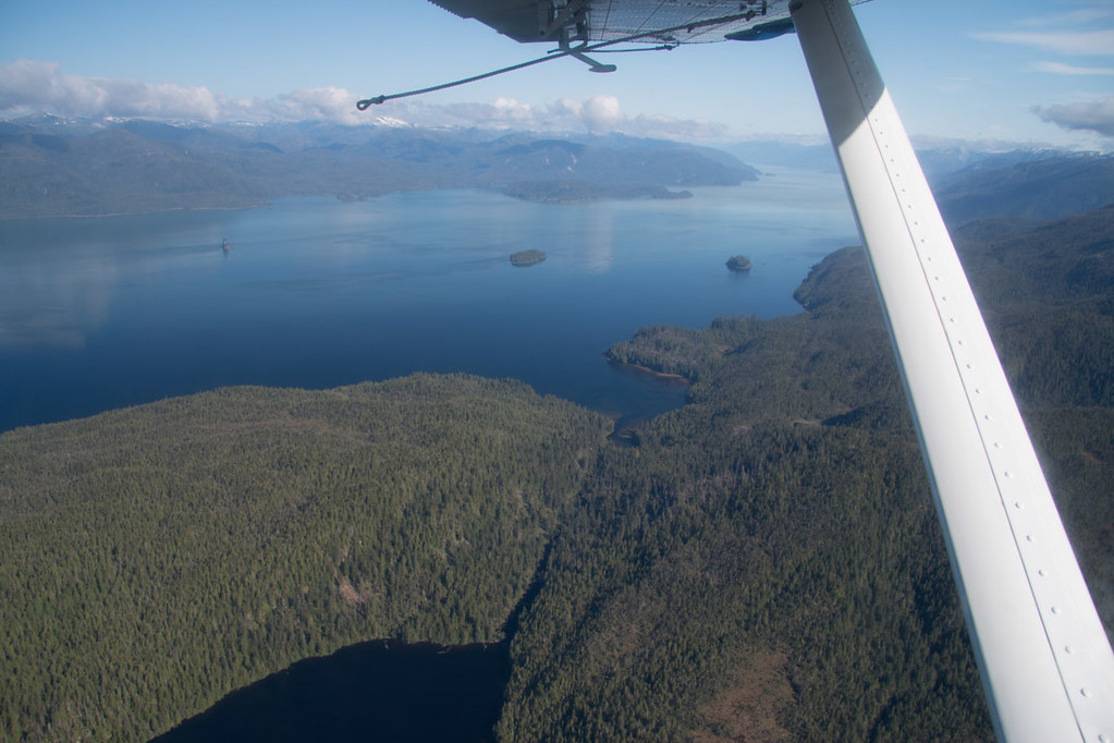 On a seaplane in Misty Fjords National Monument