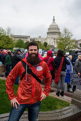 Eric Wheeler (That's me!) at the March for Science — Washington D.C.