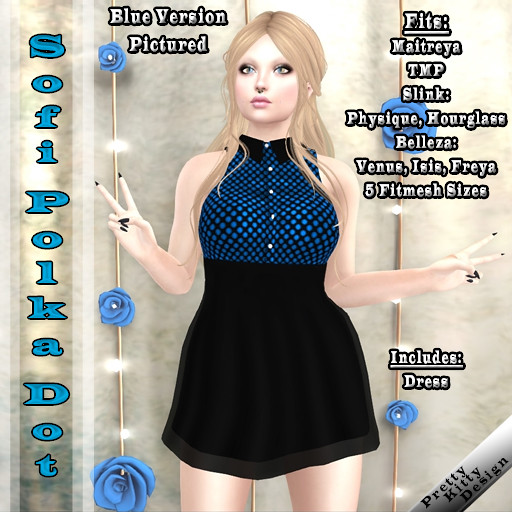 :PKD: Sofi Polka Dot Dress (20L$ Sale)