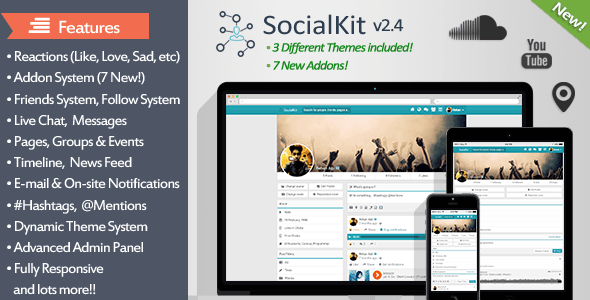 SocialKit v2.4 - The Ultimate Social Networking Platform