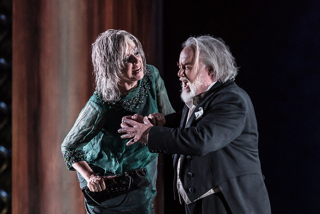 Anne Sofie Von Otter and John Tomlinson in The Exterminating Angel (C) ROH 2017. Photograph by Clive Barda