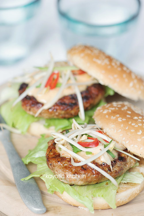 Jamaican-Style Chicken Burger
