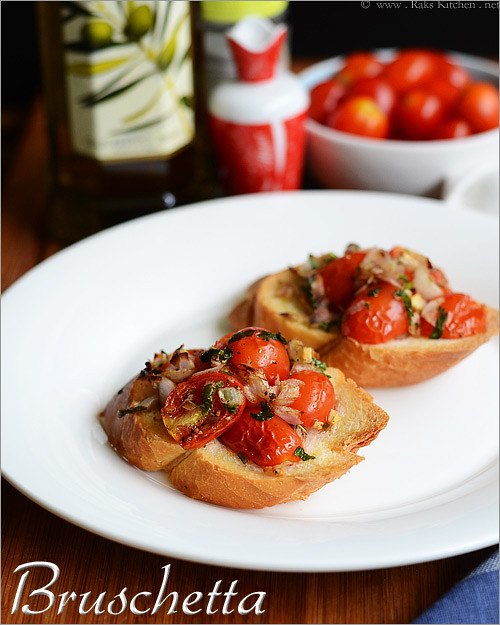 bruschetta recipe easy starter recipes raks kitchen